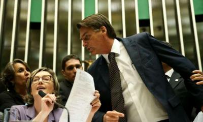 Bolsonaro e Mari do Rosário