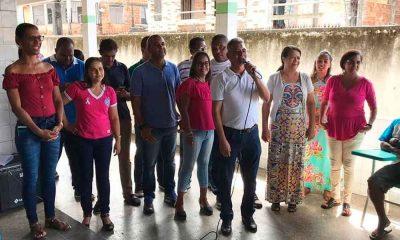 Prefeito Dinha em evento pelo Dia do Pais no Colégio Juciete Soares