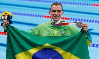 Olimpíada: Fernando Scheffer fatura bronze na natação