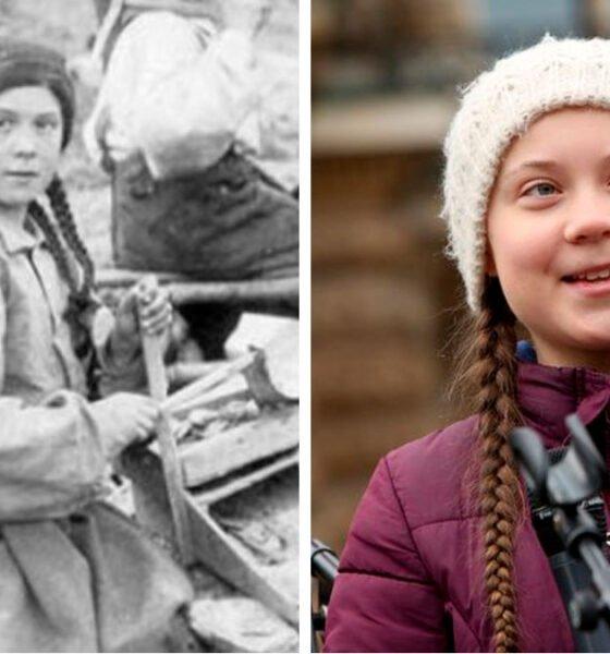 Fotografia da garota canadense e da jovem Greta Thunberg - Biblioteca da Universidade de Washington/ Getty Images